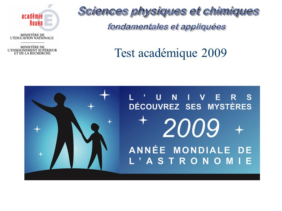 Test académique 2009