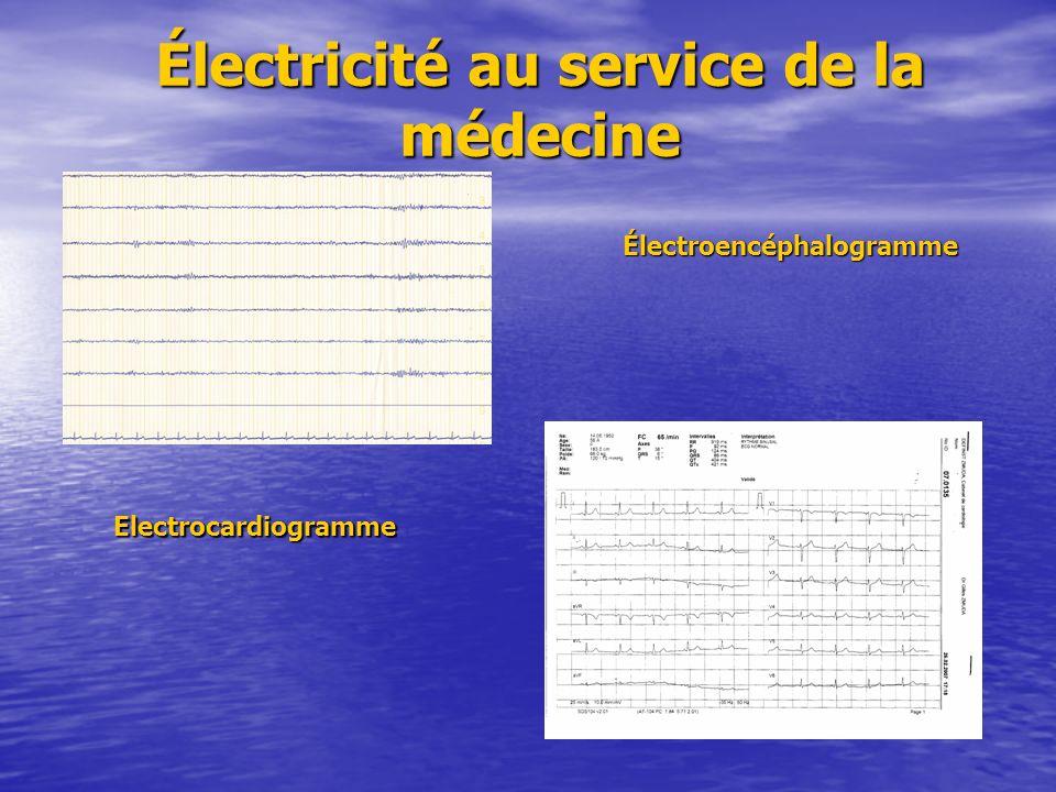 Électricité au service de la médecine
