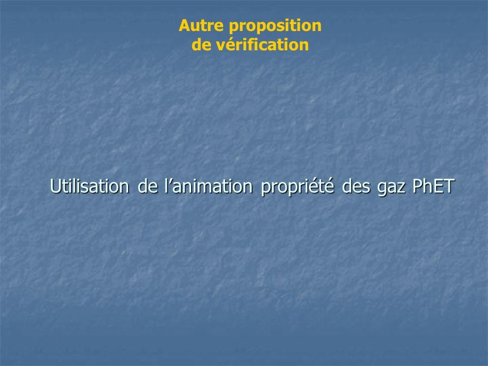 Utilisation de l'animation propriété des gaz PhET