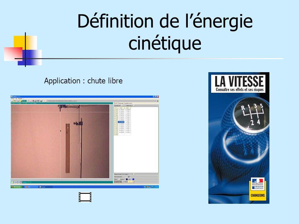 Définition de l'énergie cinétique