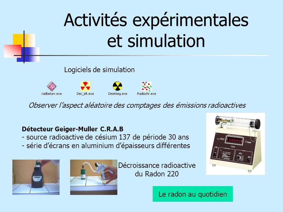 Activités expérimentales et simulation