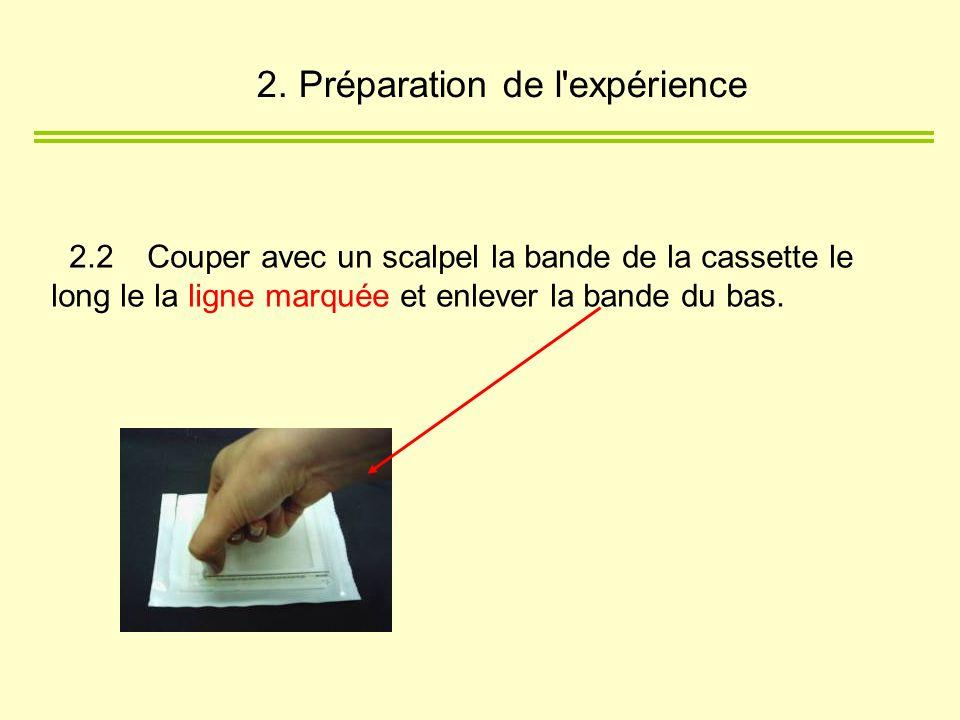 2. Préparation de l expérience