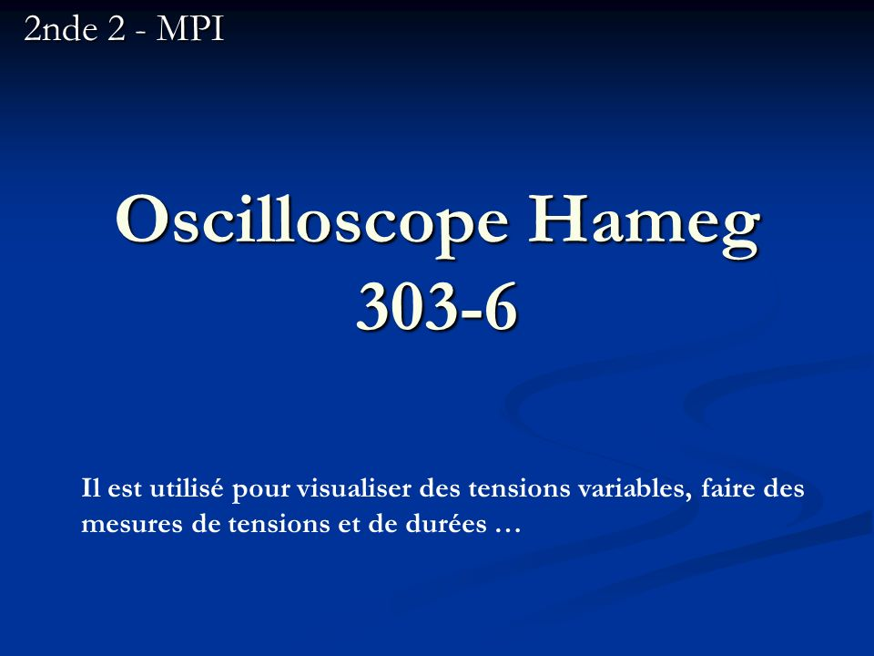 Oscilloscope Hameg 303-6 2nde 2 - MPI