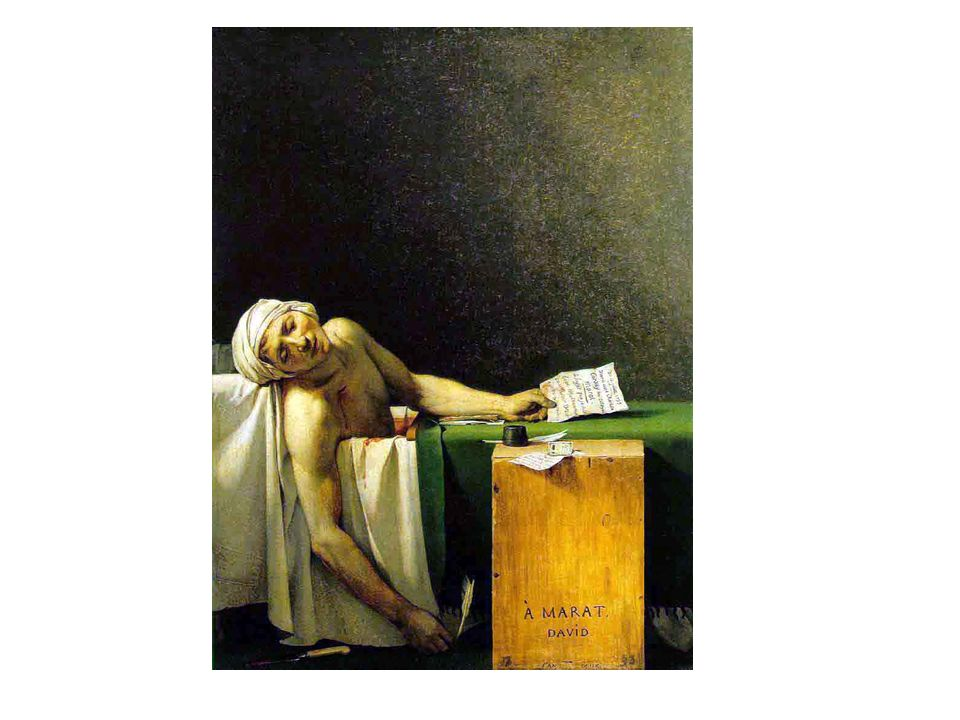 David: Marat. Idéalisation d'un mort (Marat a été assassiné beaucoup plus vieux).