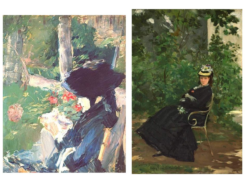 Manet: Madame Manet Monet: Alice Hoscede