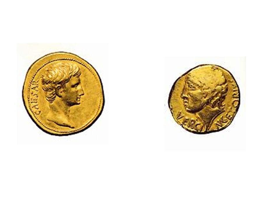 Pièces de monnaie de l'Antiquité et du Haut Moyen-Age.