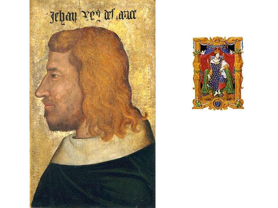 Premier portrait nommé connu (Jean le Bon, 1360-1370). De profil…