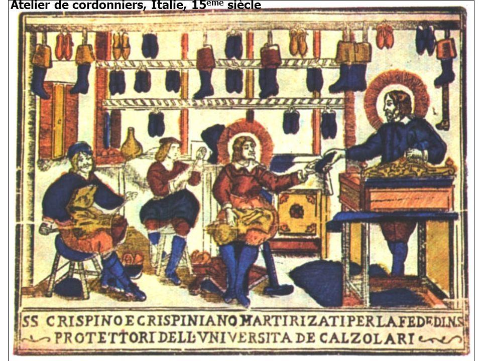 Atelier de cordonniers, Italie, 15ème siècle