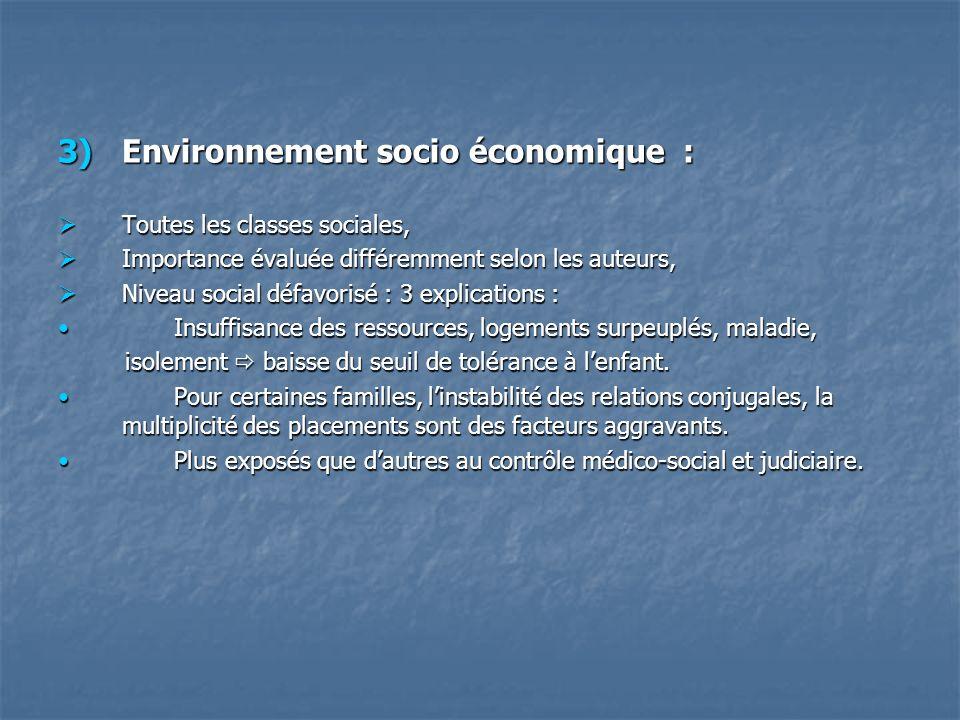 Environnement socio économique :