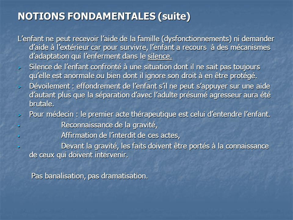 NOTIONS FONDAMENTALES (suite)