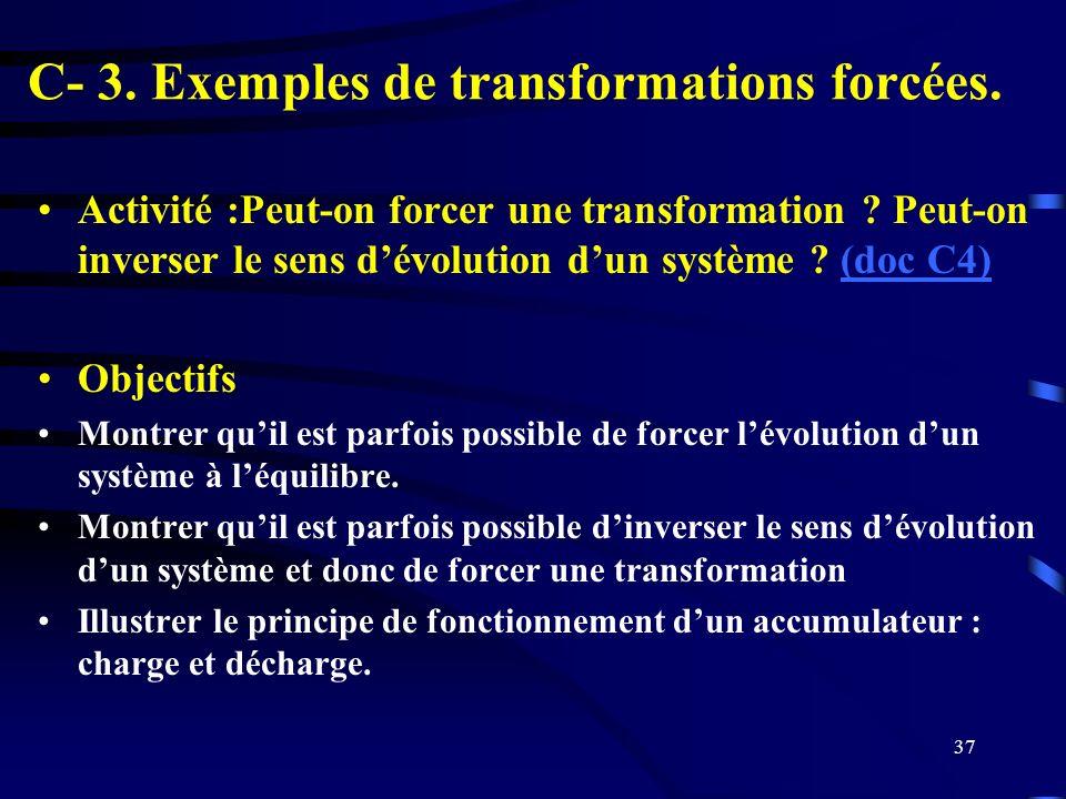 C- 3. Exemples de transformations forcées.