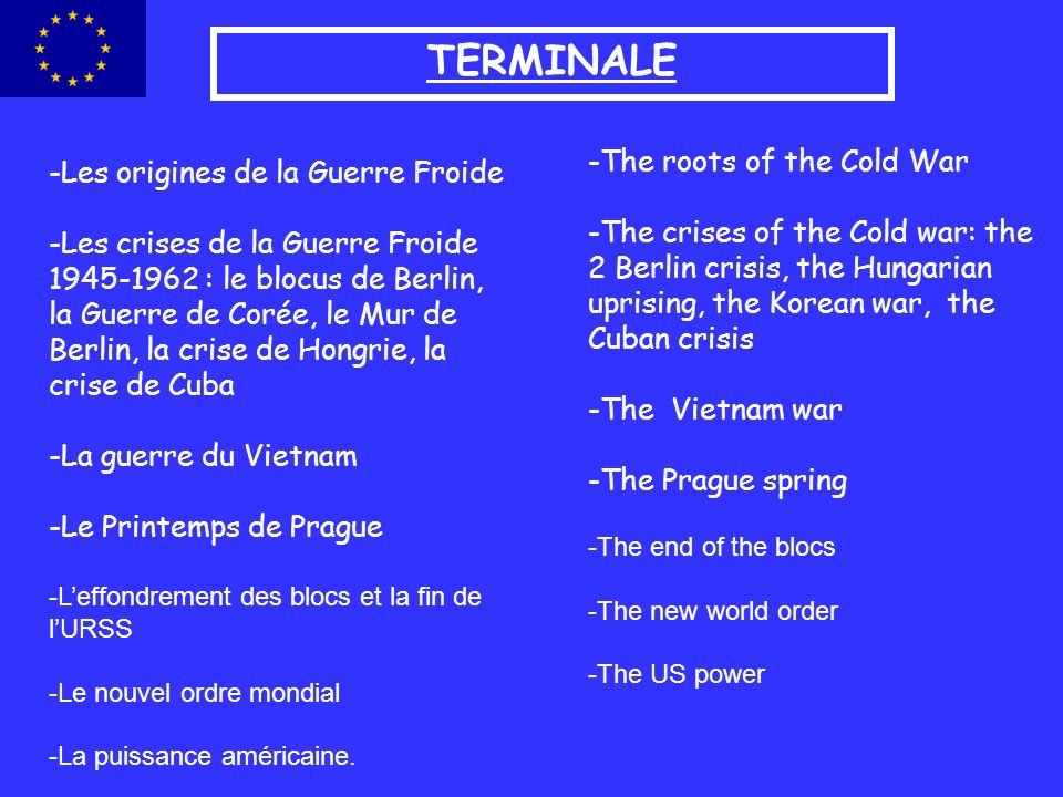 TERMINALE -The roots of the Cold War -Les origines de la Guerre Froide