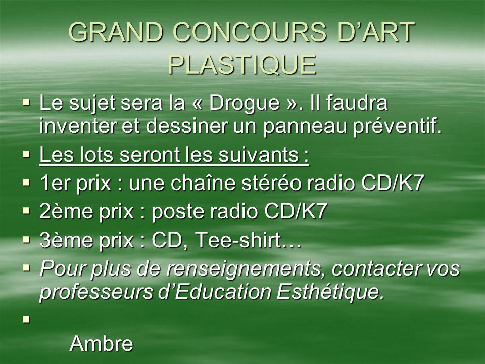 GRAND CONCOURS D'ART PLASTIQUE