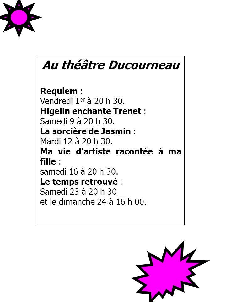 Au théâtre Ducourneau Requiem : Vendredi 1er à 20 h 30.