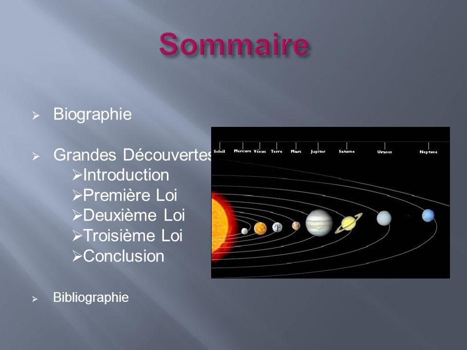 Sommaire Biographie Grandes Découvertes Introduction Première Loi
