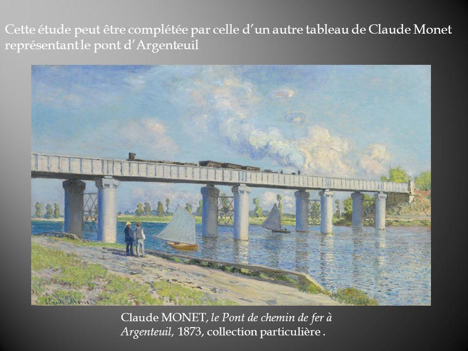 Cette étude peut être complétée par celle d'un autre tableau de Claude Monet représentant le pont d'Argenteuil