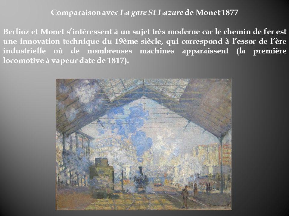 Comparaison avec La gare St Lazare de Monet 1877