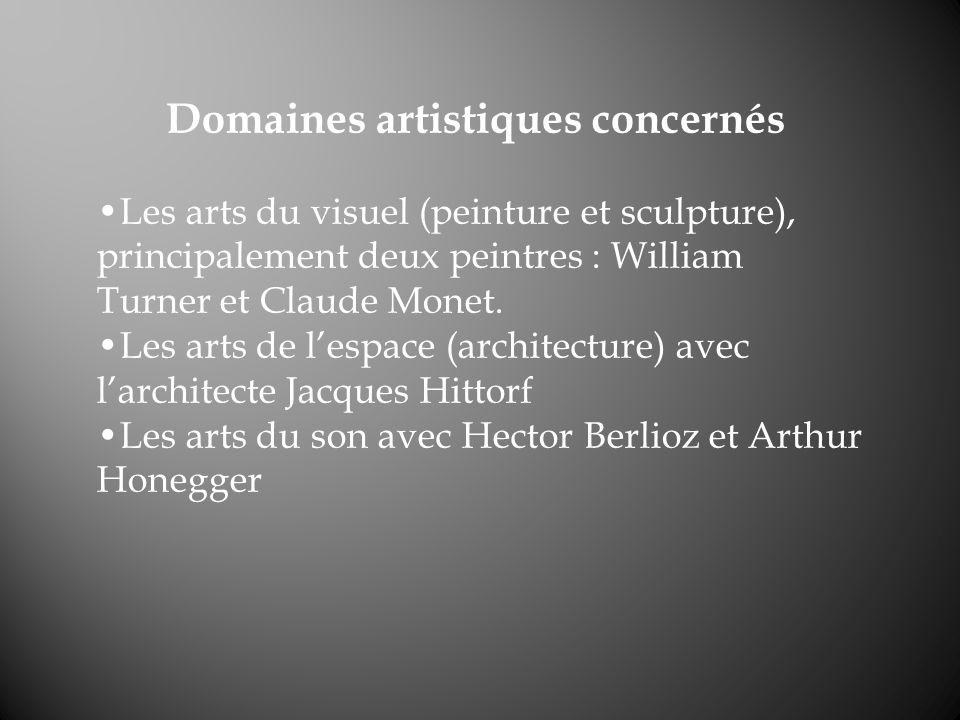 Domaines artistiques concernés