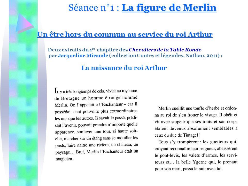 Séance n°1 : La figure de Merlin