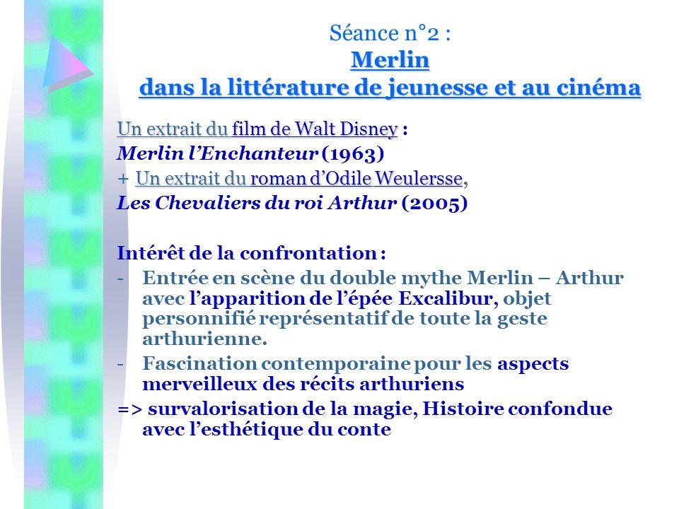 Séance n°2 : Merlin dans la littérature de jeunesse et au cinéma