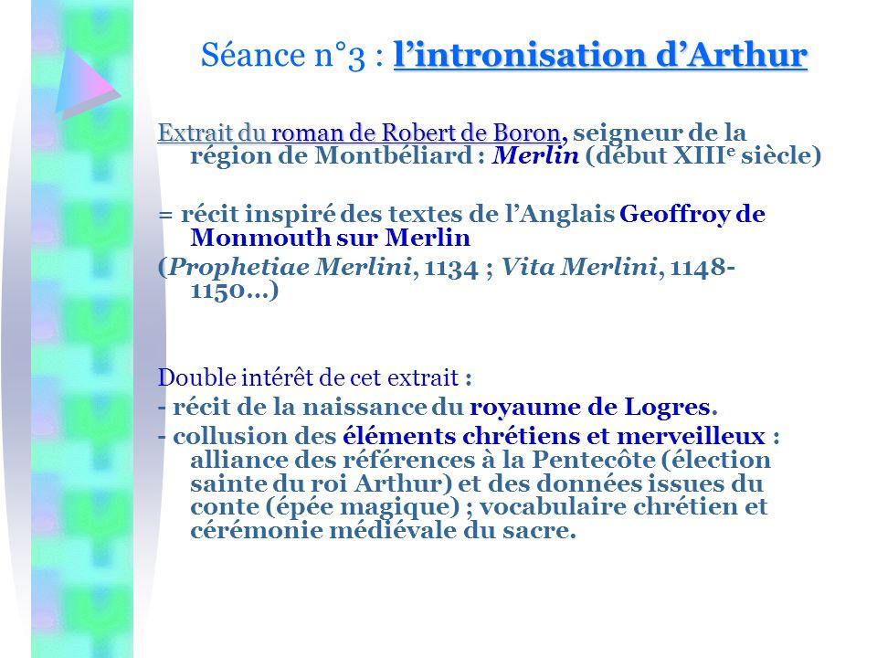 Séance n°3 : l'intronisation d'Arthur