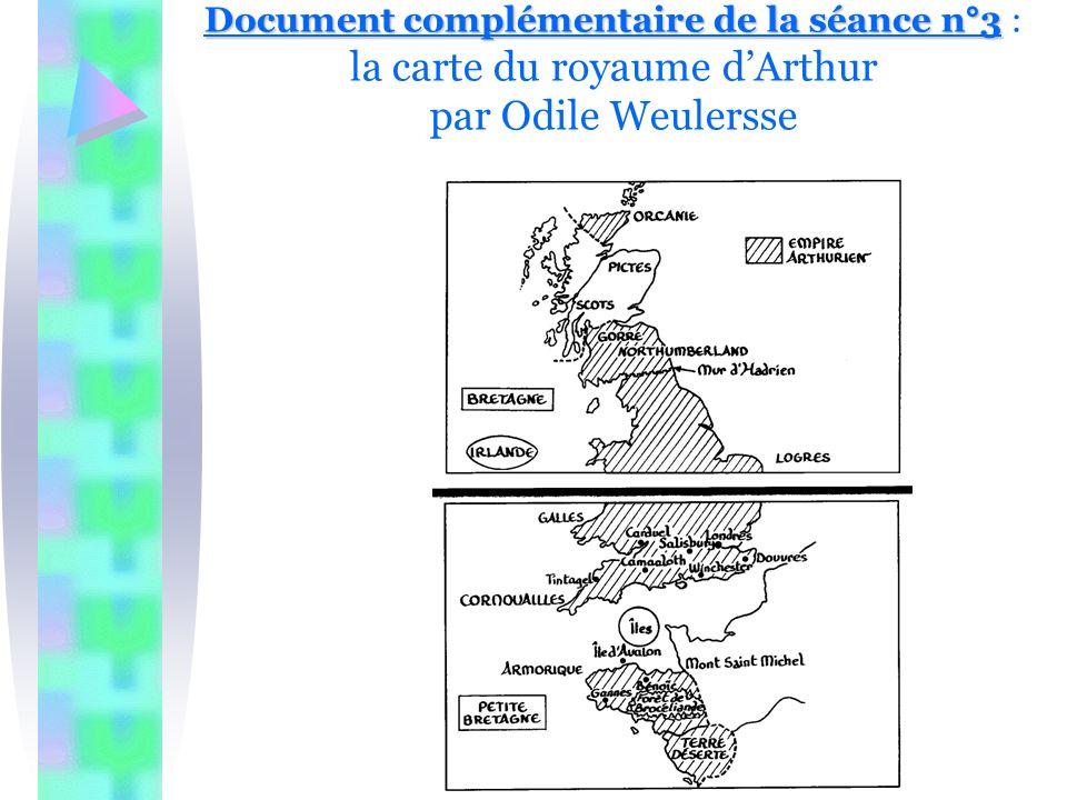 Document complémentaire de la séance n°3 : la carte du royaume d'Arthur par Odile Weulersse