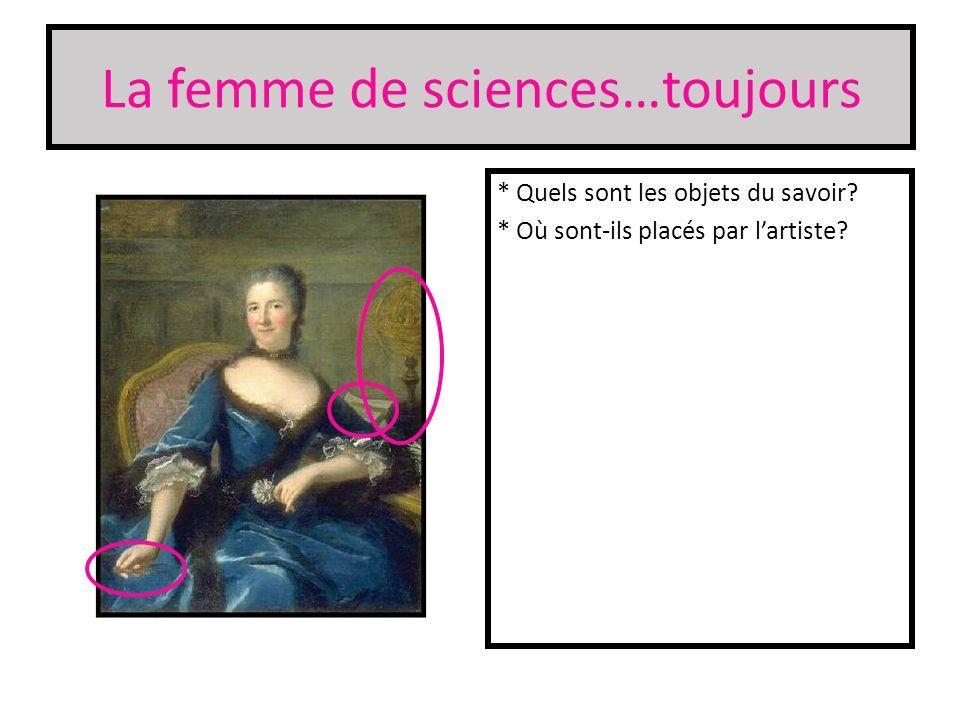 La femme de sciences…toujours