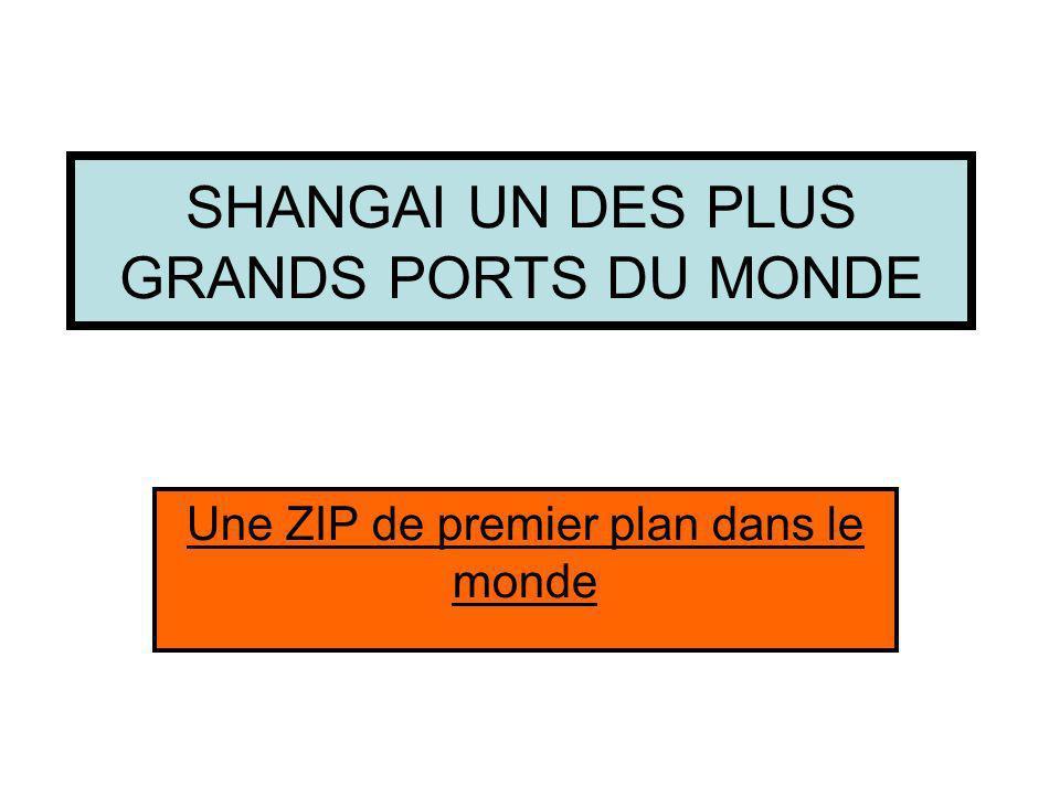 SHANGAI UN DES PLUS GRANDS PORTS DU MONDE