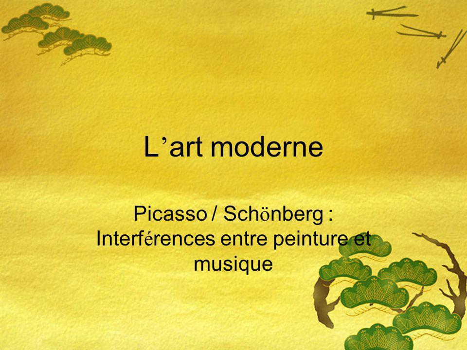 Picasso / Schönberg : Interférences entre peinture et musique