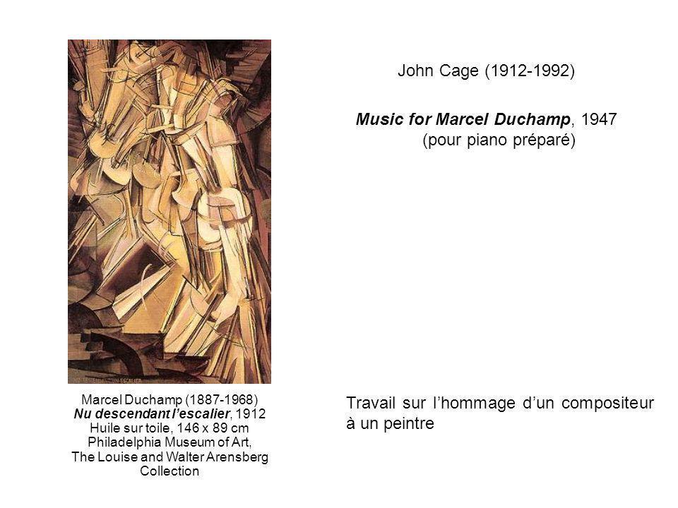 Music for Marcel Duchamp, 1947 (pour piano préparé)