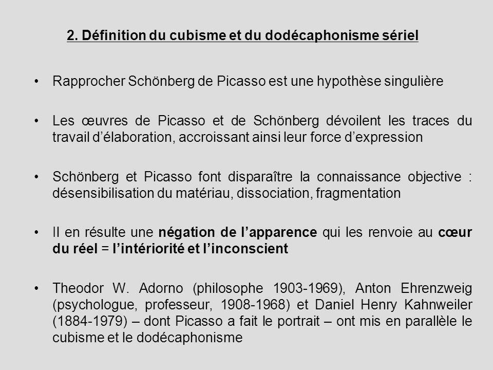 2. Définition du cubisme et du dodécaphonisme sériel