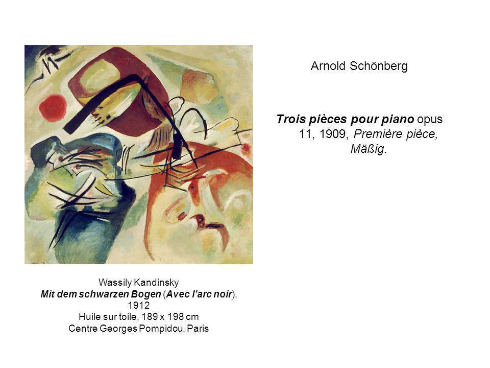 Trois pièces pour piano opus 11, 1909, Première pièce, Mäßig.
