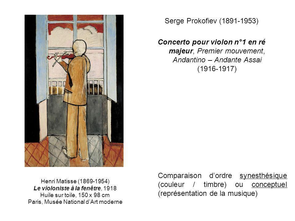 Serge Prokofiev (1891-1953) Concerto pour violon n°1 en ré majeur, Premier mouvement, Andantino – Andante Assai (1916-1917)
