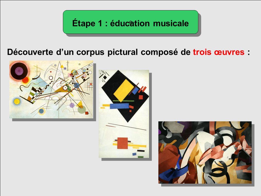 Étape 1 : éducation musicale