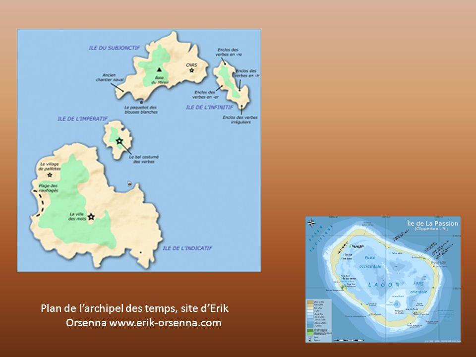 Plan de l'archipel des temps, site d'Erik Orsenna www.erik-orsenna.com