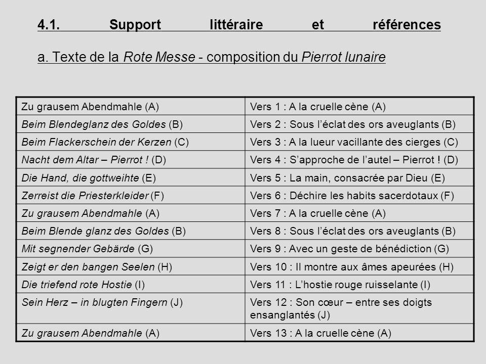 4. 1. Support littéraire et références a
