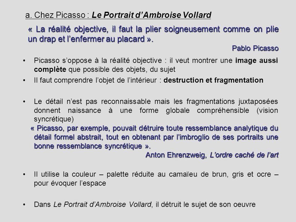 a. Chez Picasso : Le Portrait d'Ambroise Vollard