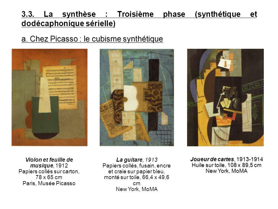 a. Chez Picasso : le cubisme synthétique