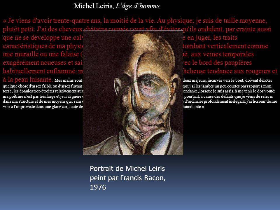 Portrait de Michel Leiris peint par Francis Bacon, 1976