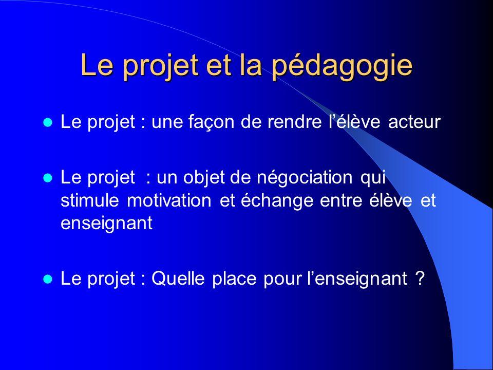 Le projet et la pédagogie
