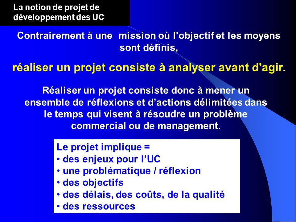 réaliser un projet consiste à analyser avant d agir.
