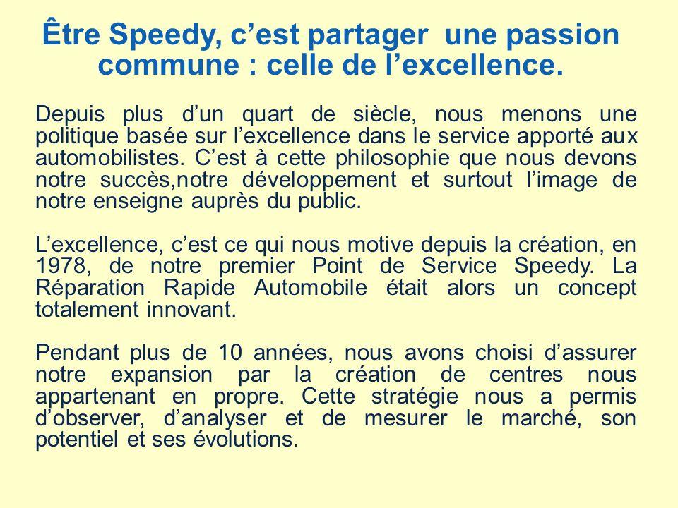 Être Speedy, c'est partager une passion commune : celle de l'excellence.