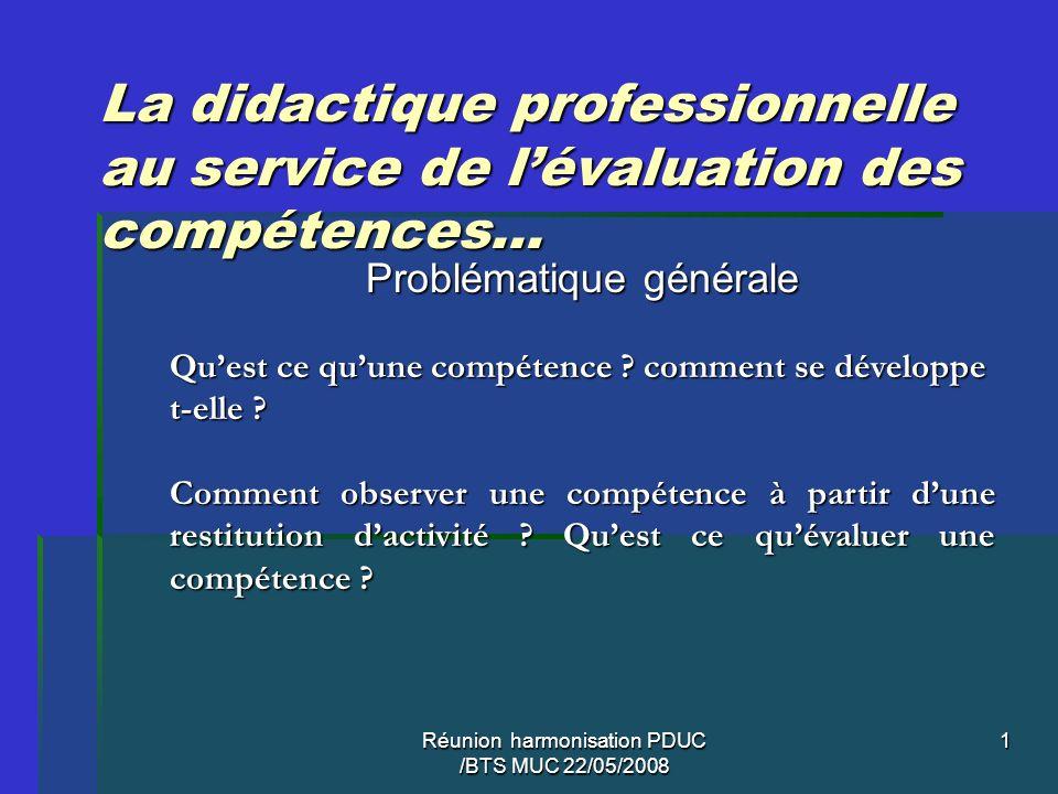 La didactique professionnelle au service de l'évaluation des compétences…