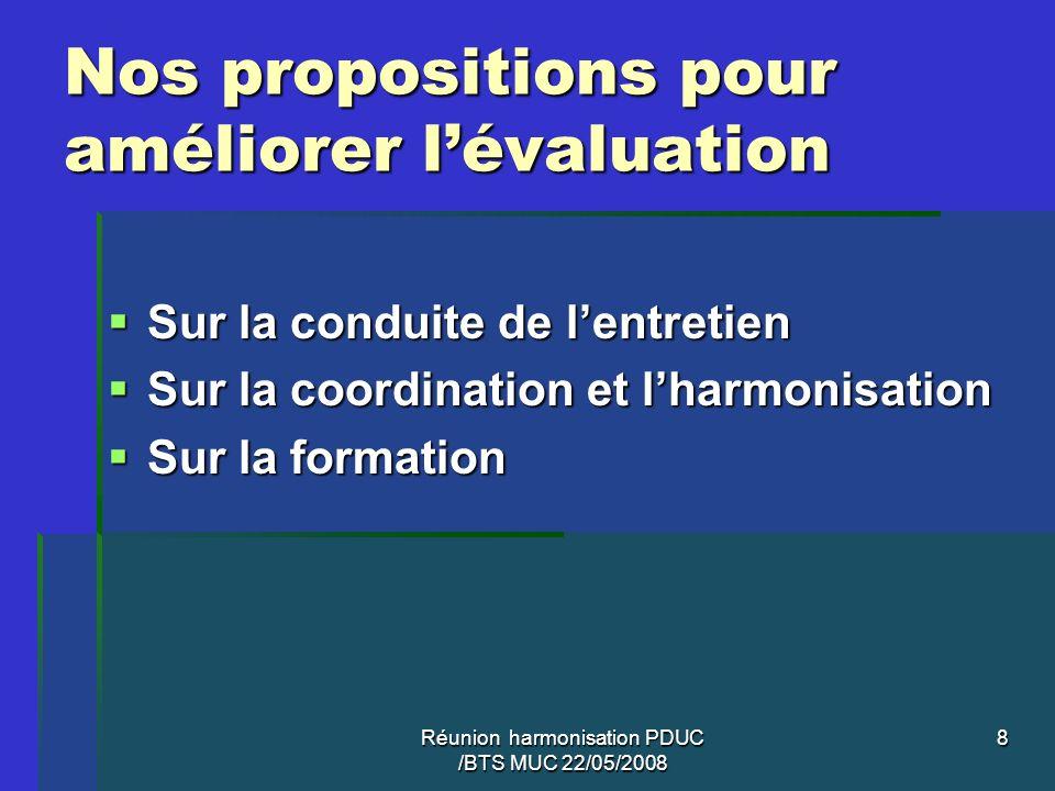 Nos propositions pour améliorer l'évaluation