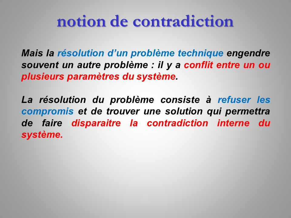notion de contradiction