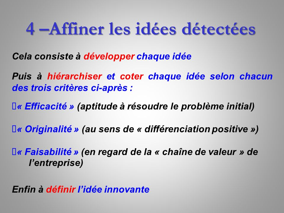 La gen se de asit asit automatic and systematic for Idee innovante entreprise