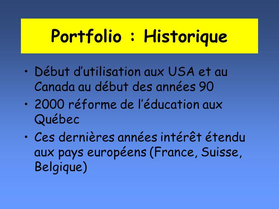 Portfolio : Historique