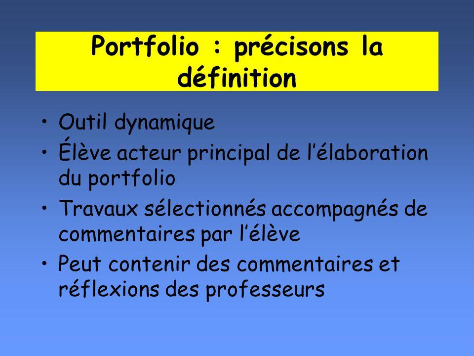 Portfolio : précisons la définition
