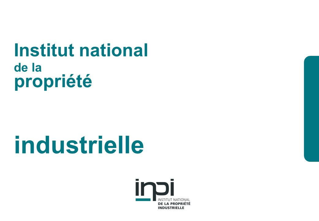 industrielle Institut national de la propriété