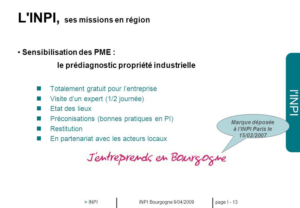 L INPI, ses missions en région